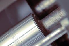 Het macro, industriële detail van de metaalschacht Stock Afbeelding