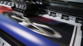 Het macro Industriële Materiaal van Printerprints presentation graphics stock footage
