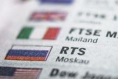 Het Macroconcept van RTS Stock Afbeelding
