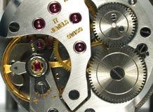 Het macrodetail van het horloge Stock Foto's