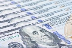 100 het macroschot van USD Royalty-vrije Stock Afbeeldingen
