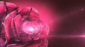 Het magenta kristal nam roterend toe royalty-vrije illustratie