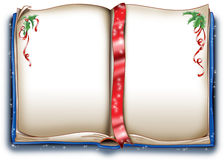 Het magische boek van Kerstmis Stock Afbeeldingen