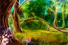 Het magische bos royalty-vrije illustratie