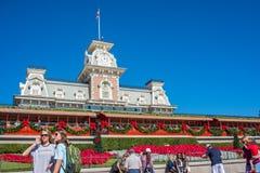 Het magische Bureau van de Koninkrijksspoorweg in Walt Disney World Royalty-vrije Stock Afbeeldingen