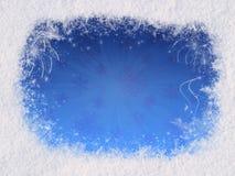 Het magische frame van de winter Royalty-vrije Stock Afbeeldingen