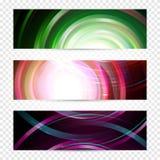 Het magische ontwerp van melkwegbanners Spiraalvormige ruimte vectorwebachtergrond Abstract bedrijfsmalplaatje Geïsoleerde heelal Stock Afbeeldingen