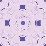 Het magische patroon van de zijdehoed stock illustratie