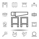 Het magische pictogram van het zaagoverzicht elementen van het magische pictogram van de illustratielijn de tekens, symbolen kunn stock illustratie