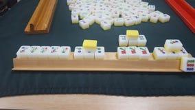Het mahjong, een Chinees Tegelspel speelde met 4 spelers, Sydney, NSW, Australië stock foto
