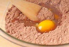 Het maken brownies stock foto