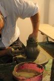 Het maken van aardewerk Royalty-vrije Stock Foto