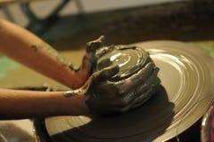 Het maken van aardewerk Royalty-vrije Stock Fotografie