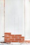 het maken van bakstenendecoratie Royalty-vrije Stock Afbeeldingen