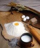 Het maken van brood Stock Afbeelding