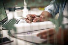 Het maken van businessplan stock foto's