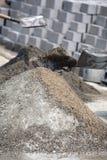 Het maken van cement Stock Afbeeldingen