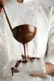 Het maken van chocolade Stock Foto's