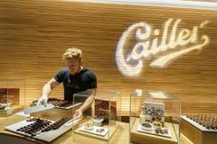 Het maken van chocolade Royalty-vrije Stock Afbeeldingen