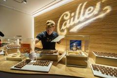 Het maken van chocolade Stock Foto