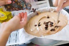 Het Maken van de cake Stock Foto's