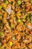 Het maken van de Pastei van Empanada Gallega Stock Afbeelding