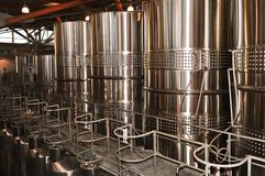 Het maken van de wijn apparatuur Stock Afbeeldingen