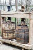 Het maken van de wijn pers Royalty-vrije Stock Afbeeldingen