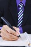Het maken van een businessplan Stock Afbeelding