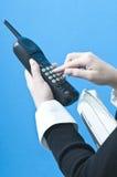 Het maken van een telefoongesprek Royalty-vrije Stock Afbeelding