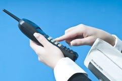 Het maken van een telefoongesprek Royalty-vrije Stock Foto