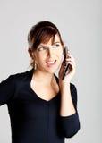 Het maken van een telefoongesprek Royalty-vrije Stock Afbeeldingen