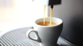 Het maken van een zwarte koffie stock videobeelden