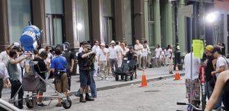 Het maken van films in NYC Stock Afbeeldingen