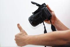 Het maken van foto'sabstractie Stock Foto