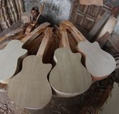 Het maken van gitaar Stock Afbeelding