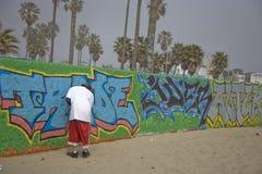Het maken van graffiti royalty-vrije stock afbeeldingen