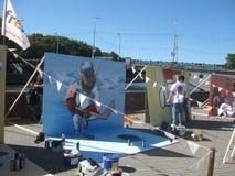 Het maken van graffiti Stock Afbeelding