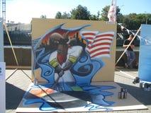 Het maken van graffiti Stock Afbeeldingen