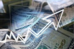 Het maken van Heel wat Geld door Schommeling die de Effectenbeurs uitwisselen royalty-vrije stock foto's