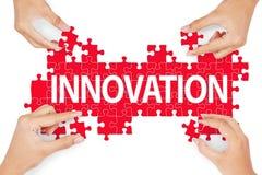 Het maken van innovatie voor oplossing royalty-vrije stock afbeeldingen