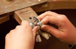 Het maken van juwelen Royalty-vrije Stock Afbeelding