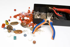 Het maken van juwelen Stock Foto's