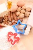 Het maken van koekjes Stock Afbeeldingen