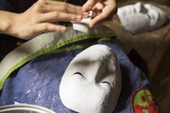 Het maken van masker royalty-vrije stock afbeeldingen