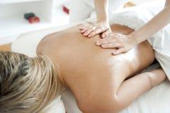 Het maken van massage Royalty-vrije Stock Foto