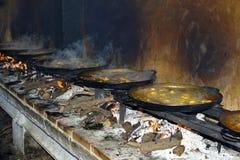 Het maken van paella Royalty-vrije Stock Afbeelding
