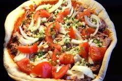Het maken van pizza Royalty-vrije Stock Foto's