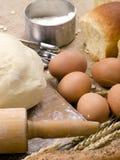 Het maken van Reeks 010 van het Brood royalty-vrije stock afbeelding