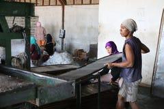 Het maken van Sohun in de plaats Kroya Stock Fotografie